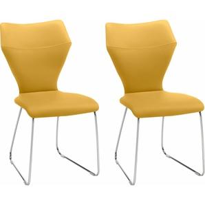 Stühle gelb, »Tempra«, Gallery M