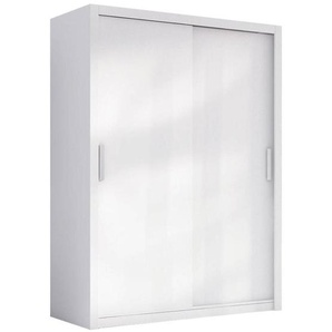 JUSTyou London 150 Schwebetürenschrank Kleiderschrank Garderobe Garderobensetnschrank Schlafzimmer Weiß