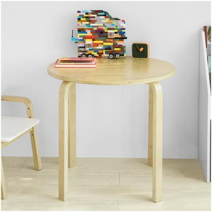 SoBuy Kindertisch Spieltisch für Kinderzimmer Kinderschreibtisch Rund KMB21-N