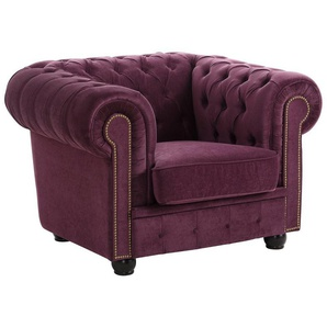 Max Winzer® Chesterfield-Sessel »Rover«, mit edler Knopfheftung, lila