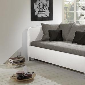 Schlafsofa mit Lattenrost und Federkern-Matratze weiß - Anteo