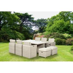 10-Sitzer Gartengarnitur Swindon mit Polster