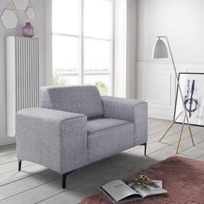 andas Sessel »Diva2« mit edlen Metallfüßen, silber, Webstoff