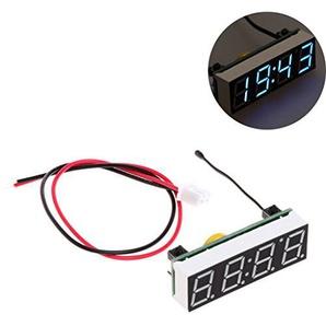 sunhoyu 5-30VDIY Clock Temperatur Spannung Modul - Blau für Zuhause