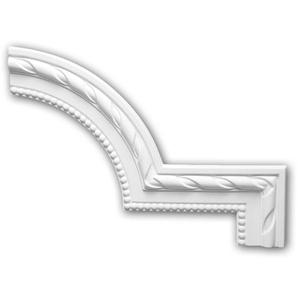 Eckelement PROFHOME 152296 Zierelement Neo-Klassizismus-Stil weiß - PROFHOME DECOR