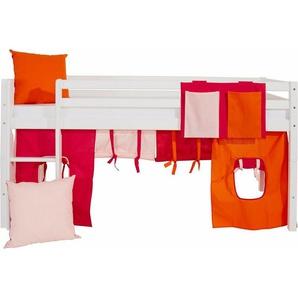 Hoppekids Vorhang-Set »Multicolor« (4-tlg.), rosa