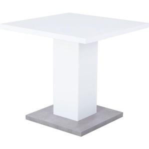 Esstisch Weiß/Betonoptik ca. 80 x 76 x 80 cm