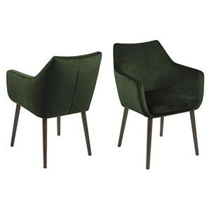 PKLine Esszimmerstuhl Noel in tannengrün Stuhl Küchenstuhl Armlehnstuhl