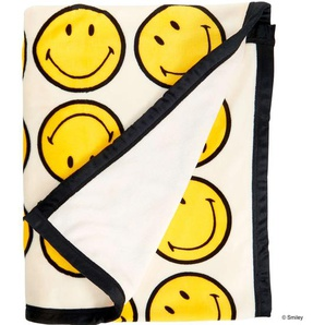 Butlers Smiley Flanelldecke Smiley allover 130x170cm creme