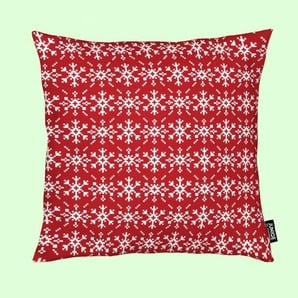 Snowflakes Red-White - Kissen