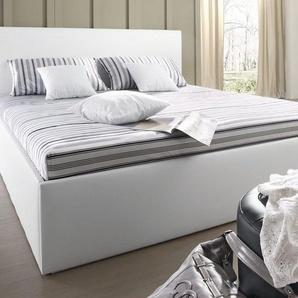 Westfalia Schlafkomfort Polsterbett, mit Bettkasten, weiß