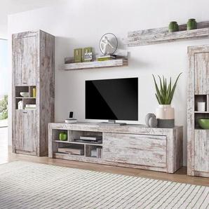 Serie Noah Wohn-Wand, weiß, pflegeleichte Oberfläche, FSC®-zertifiziert