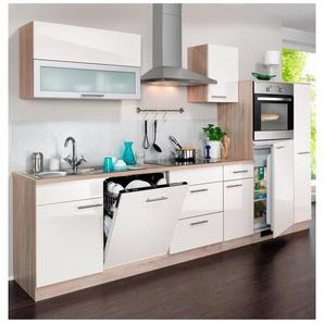 WIHO KÜCHEN Küchenzeile mit E-Geräten »Montana Glanz«, Breite 300 cm