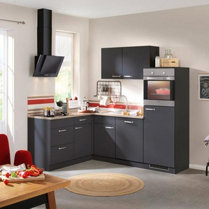 WIHO KÜCHEN Küchenzeile mit E-Geräten »Michigan«, Gesamtbreite 230 x 170 cm