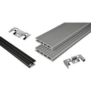 Kovalex WPC Terrassen-Bausatz Exklusiv mattiert Grau 300x400cm