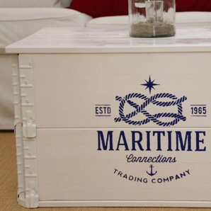Truhe Transportkiste Maritime Trading Company weiß