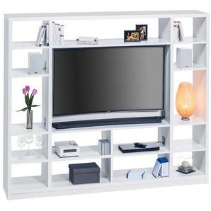 TV Regalwand in Wei� Halterung