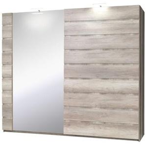 Schiebetürenschrank / Kleiderschrank Nestorio - Abmessungen: 218 x 250 x 67 cm (H x B x T)