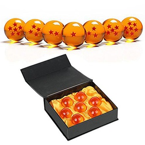 SIMUER Unisex Stars Acrylic Transparent Play Balls Crystal Dragon Ball 7pcs Set 4.3cm with Gift Box