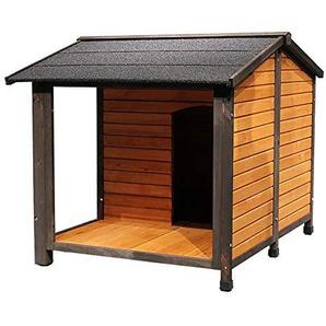 Hundehütte Holz Hund Katze Zimmer Shelter Condo Zimmer mit Hochdach for den Innen- und Außeneinsatz, Feral Insulated Pet House Geeignet für kleine und mittlere Hunde und Katzen