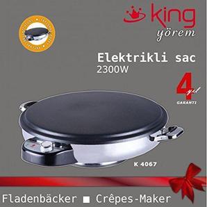 Fladenbäcker Pitabrot- und Crêpes-Backgerät Crepes-maker Yufka Sac Gözleme King