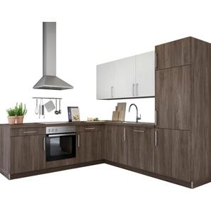 set one by Musterring Winkelküche »Navaro« mit E-Geräten, Stellbreite 245/245 cm