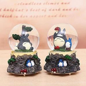 SPFAZJ Weihnachten Ball Spieluhr Japanischen Stil Totoro Glas Harz 100# Spieluhr Handwerk Freunde Paare Geschenke