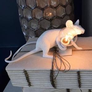 Mouse Lamp von Seletti - weiß liegend