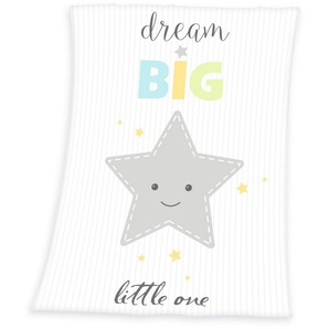 Babydecke »Dream Big Star«, Herding, mit großem Stern