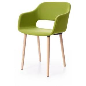 Armlehnstuhl Babila Pedrali grün, Designer Odoardo Fioravanti, 80x54.5x55 cm
