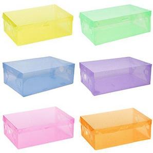 5x Schuh-Aufbewahrungsbox Fall Aufbewahrungsbox aus Kunststoff Rechteck PP Schuh Organizer Verdickte Schublade Box Zufällige Farbauswahl