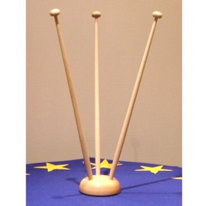 Everflag 3er Tischflaggenständer Holz