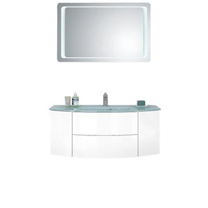 vito Waschplatz-Set SHINY Weiß Hochglanz/Weiß Glanz