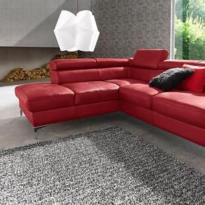 Cotta Eck-Sofa ohne Bettfunktion, rot