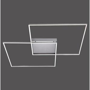Novel: LED-Deckenleuchte, Nickel, B/H/T 90 6,5 90