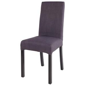 Stuhlbezug aus kohlegrauer Baumwolle 41x70