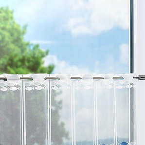 Scheibengardine  von LYSEL® Fische  (Bx H) 115cm * 50cm weiß/blau