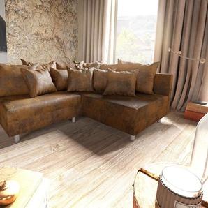 Ecksofa Clovis Braun Antik Optik Ottomane Rechts Modulsofa, Design Ecksofas, Couch Loft, Modulsofa, modular
