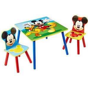 Mickey Mouse - Set aus Tisch und 2 Stühlen für Kinder