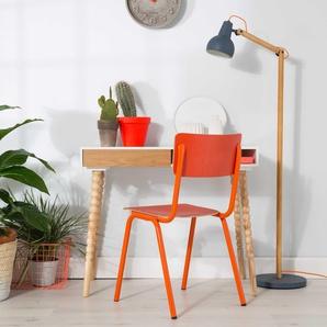 Zuiver Stehlampe ,grau ,Holz, Textil, Natur