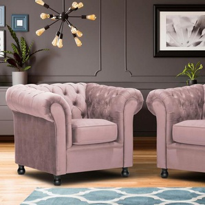 Home Affaire Sessel »Chesterfield Home«, rosa