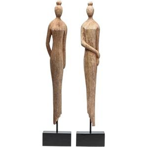 KARE DESIGN Dekofigur MADAME Holz Natur ca. 14 x 71 x 8 cm
