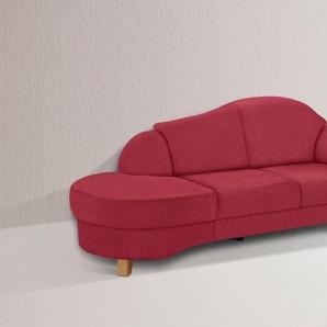 Home Affaire Recamiere »Mayfair«, rot, komfortabler Federkern, hoher Sitzkomfort