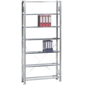 Grundelement »Steckregal Multiplus 7 OH« einfache Tiefe grau, SCHULTE Lagertechnik, 100x230x30 cm