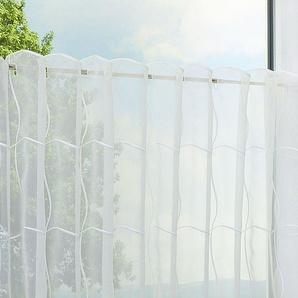 Scheibengardine  von LYSEL® Quadro  (Bx H) 150cm * 50cm weiß