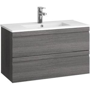 Allibert Waschplatz Accent Eiche Grau 80 cm