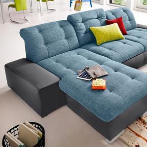 Sit&more Ecksofa, blau, hoher Sitzkomfort, FSC®-zertifiziert