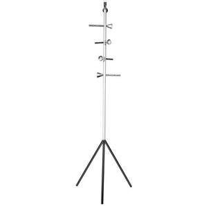 Kleiderständer CRAZY Stahl Weiß/Alu ca. 50 x 180 x 59 cm