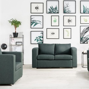 2-Sitzer Sofa Polsterbezug dunkelgrau HELSINKI