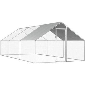 Outdoor-Hühnerkäfig 2,75x6x2 m Verzinkter Stahl - VIDAXL